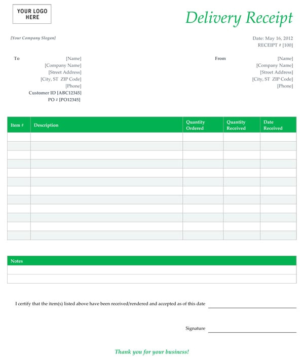 Shipping Ticket Template 6 Best Images Of Free Printable Delivery Receipt