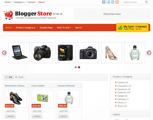 best free blogger shopping cart