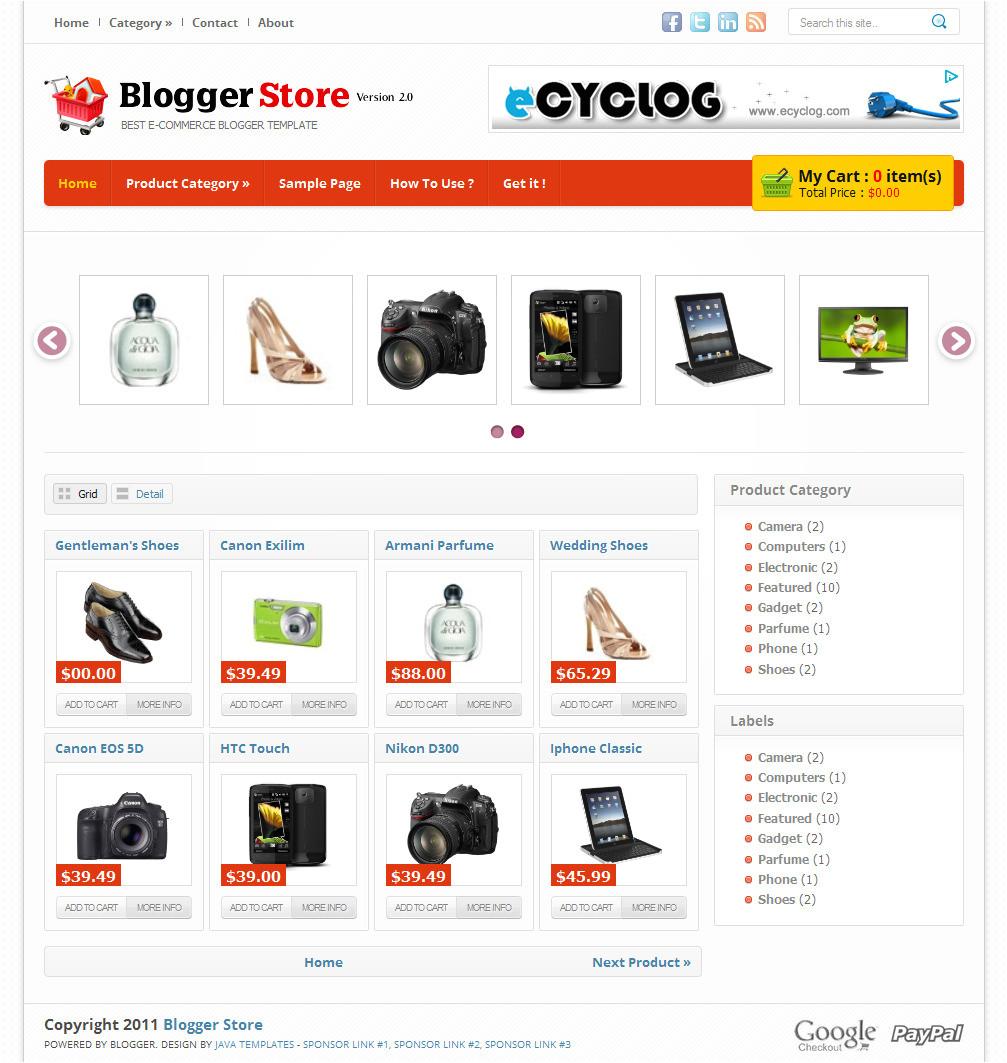 blogger store v2 best online store