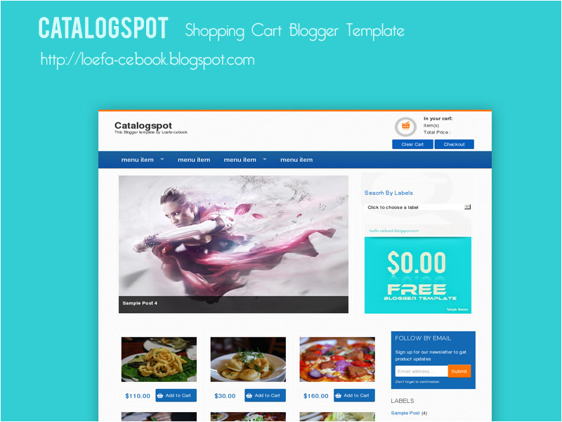 catalogspot shopping cart blogger