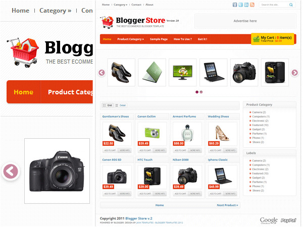 free blogger templates for building