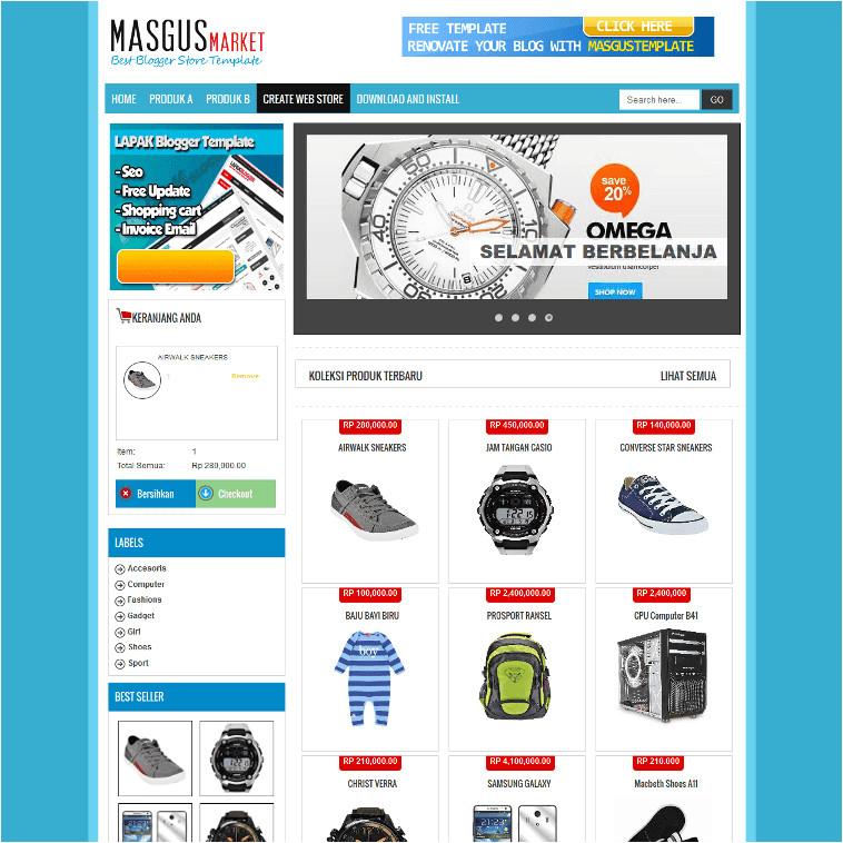 masgus market shopping cart free