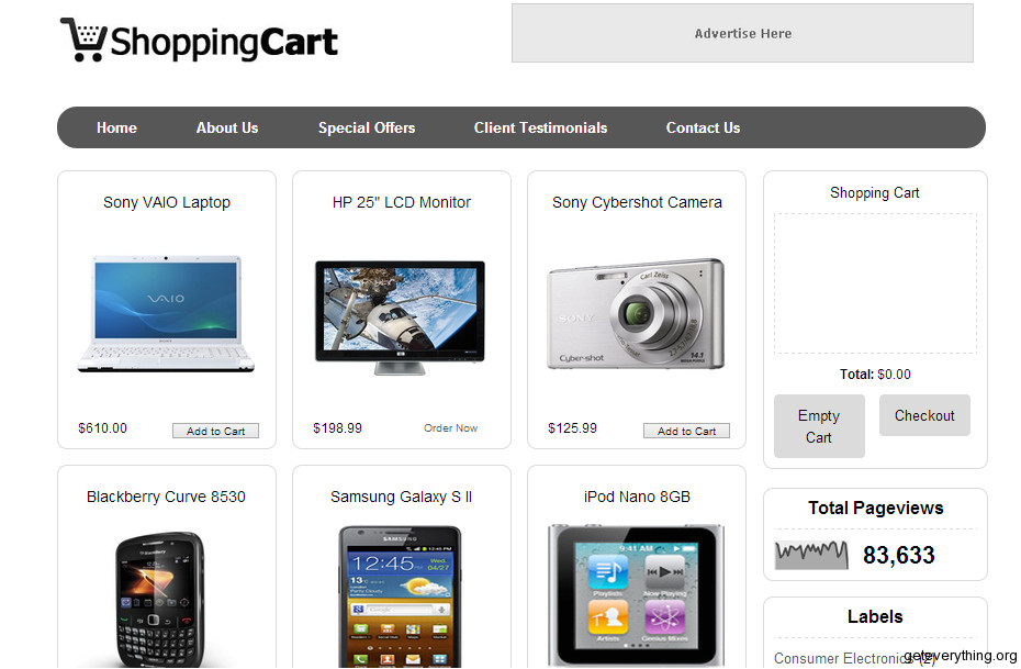 top 5 ecommerce blogger templates of the year 2012