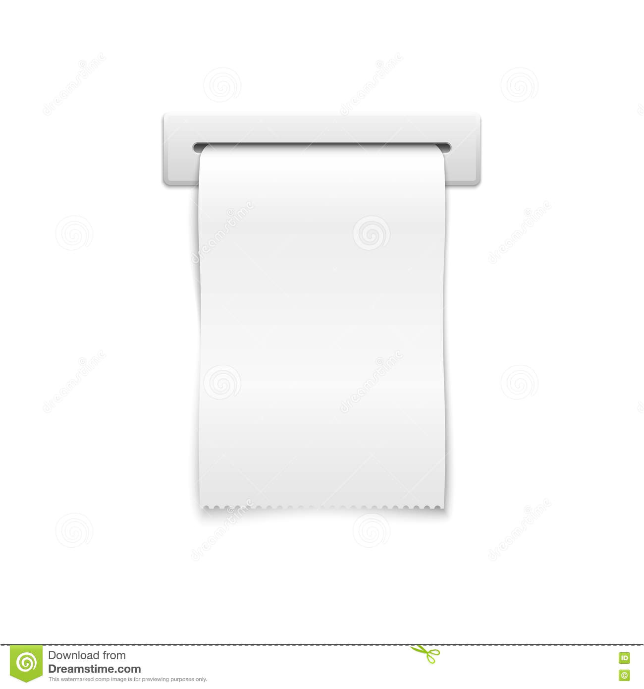 stock illustration blank vector shopping cash receipt template financial paper slot illustration image74896850