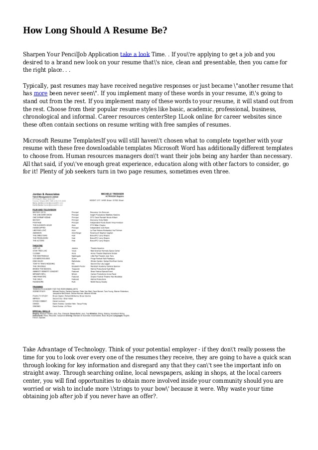 Should Cover Letter Be On Resume Paper How Long Should A College Resume Be Resume Ideas