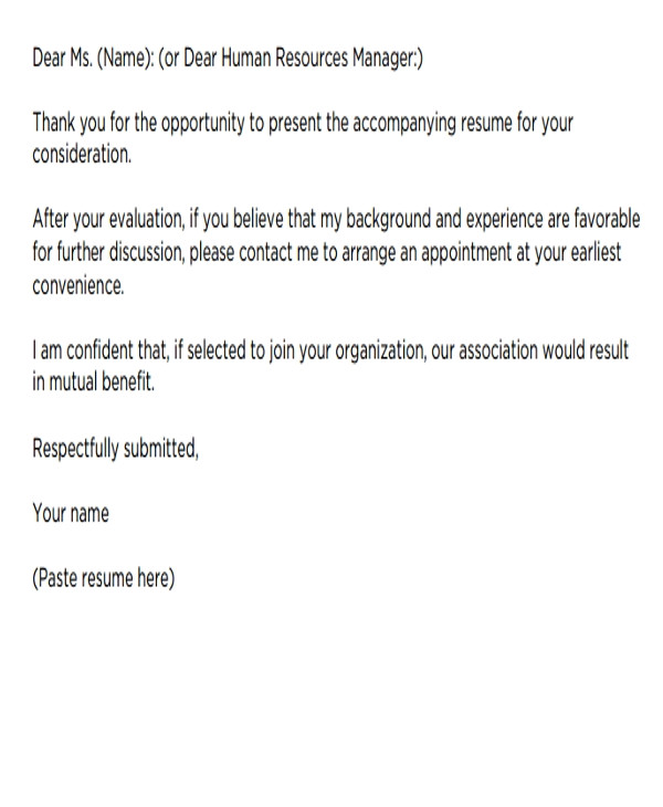 Should Cover Letters Be Short Short Cover Letters 9 Free Word Pdf format Download