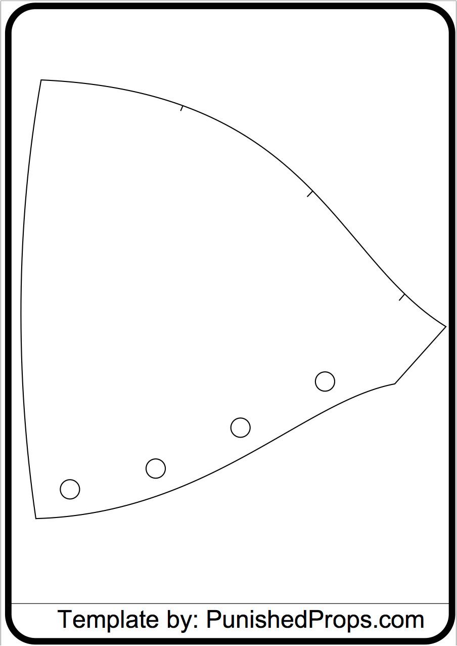 Shoulder Armor Template Shoulder Pattern for Costume Armor Punished Props