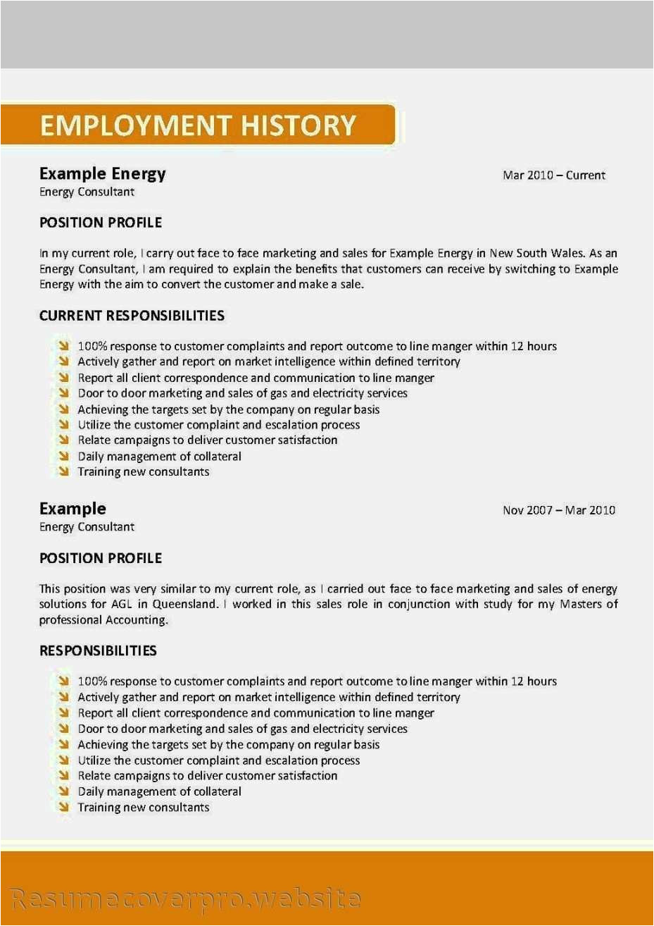show me example of resume