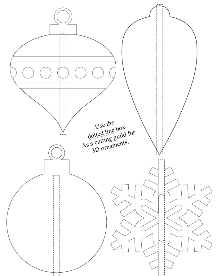 3d shrinky dink christmas ornaments free printable