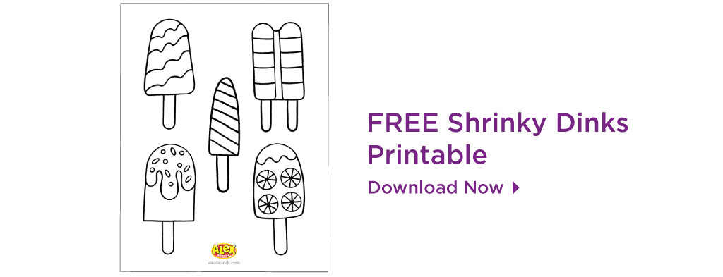 shrinky dinks popsicle printable