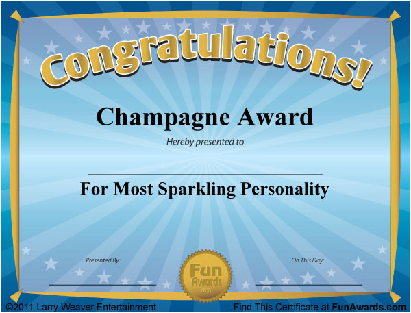 funny award certificates