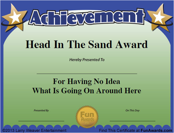 Silly Certificates Awards Templates Funny Employee Awards 101 Funny Awards for Employees