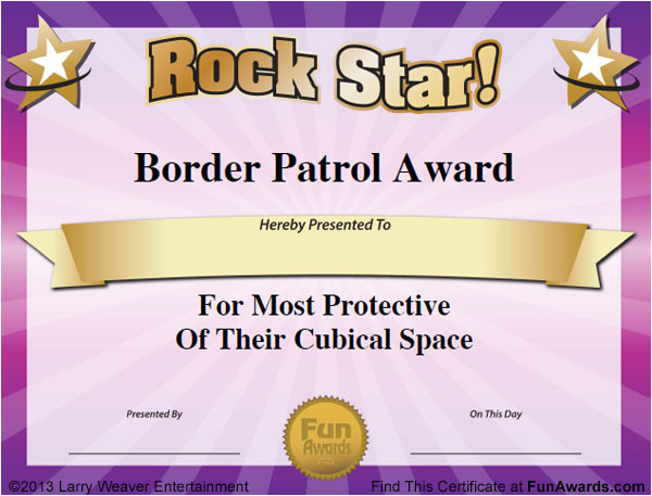 Silly Certificates Awards Templates Funny Office Awards 101 Printable Award Certificates