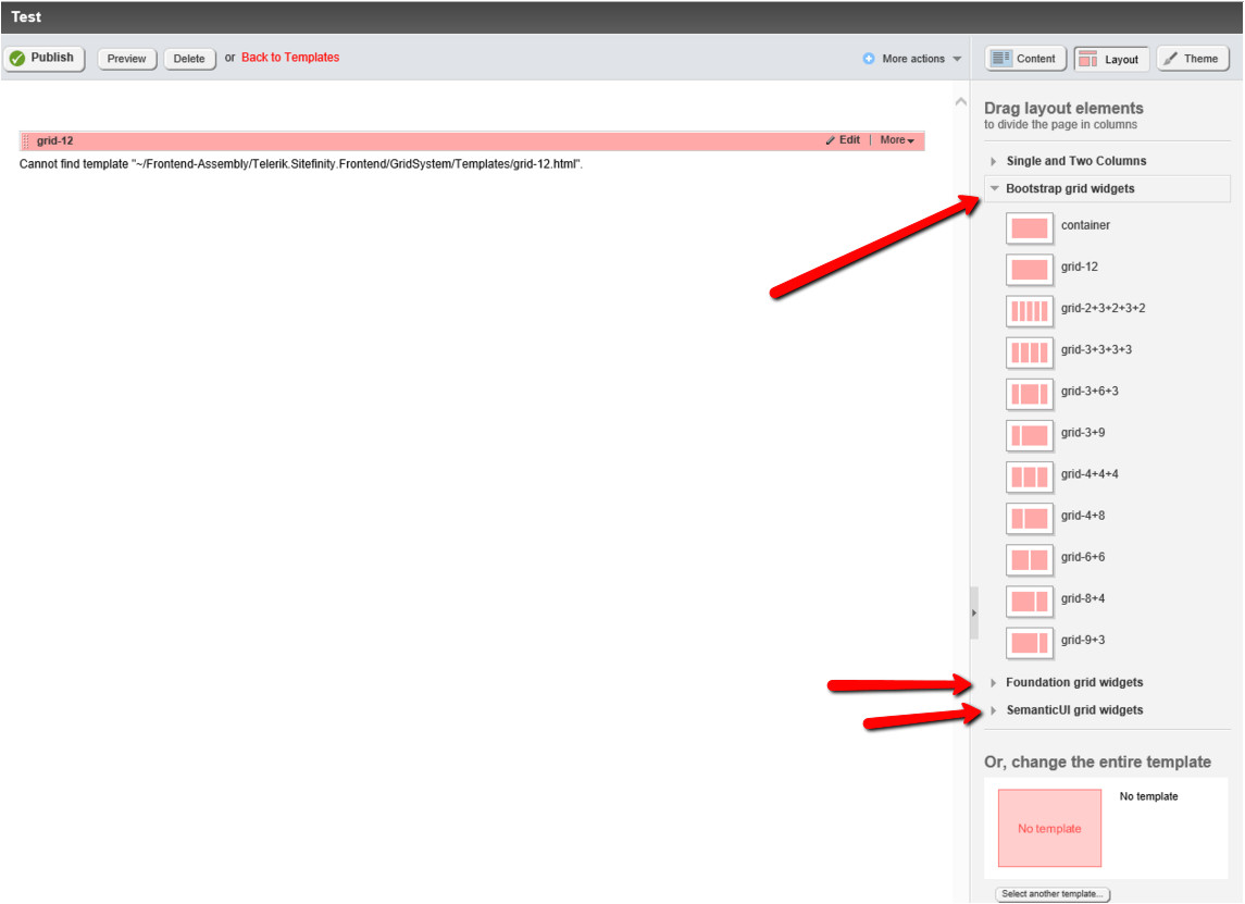 Sitefinity Template Progress Kb Cannot Find Template Quot Frontend assembly