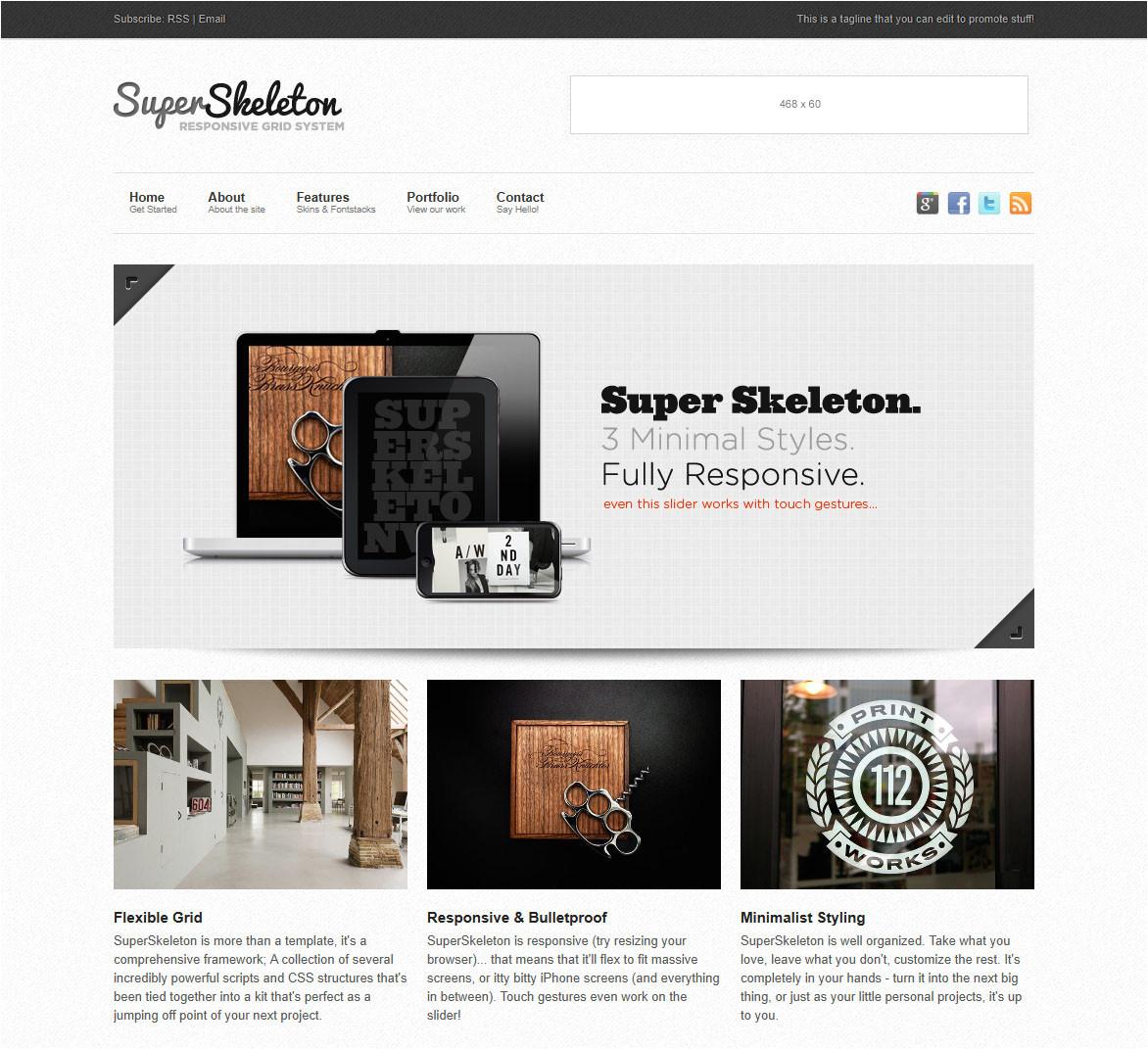 super skeleton responsive minimal beautiful 2