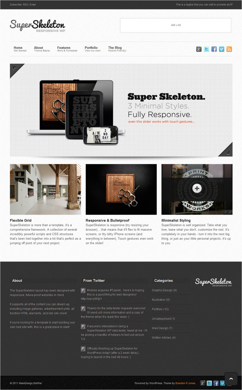 Skeleton Responsive Template Tf Super Skeleton Wp Responsive Minimal Beautiful