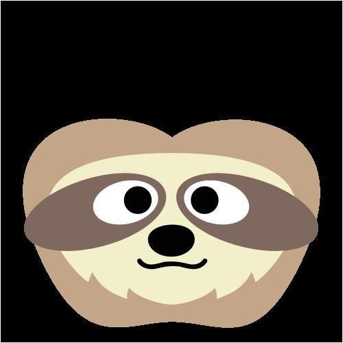 sloth mask printable sloth2