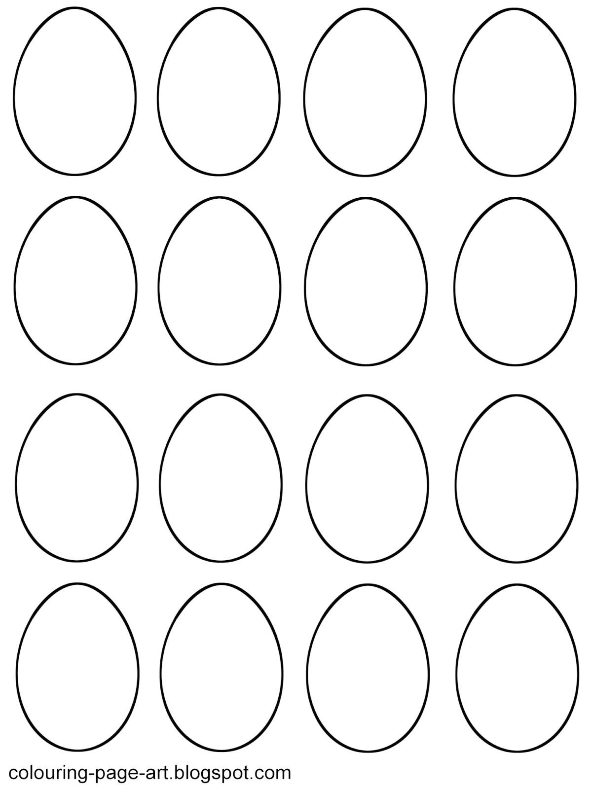 blank easter egg templates 14