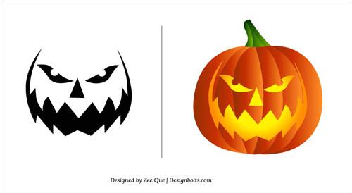 Small Halloween Pumpkin Templates Halloween Pumpkin Carving Patterns