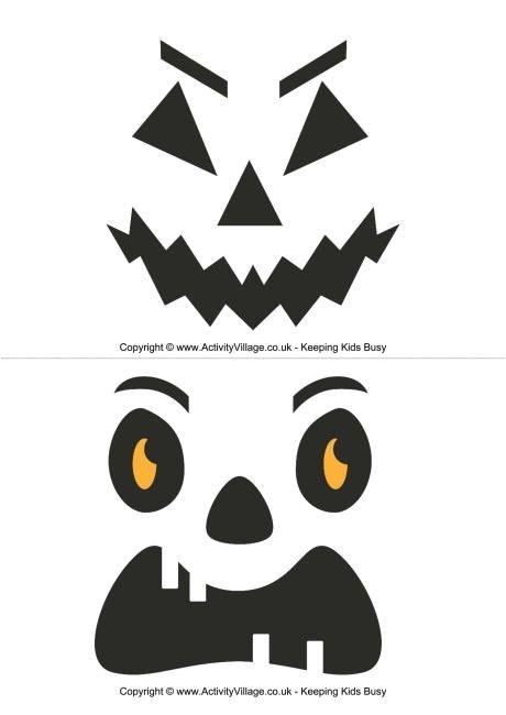 Small Halloween Pumpkin Templates Small Pumpkin Carving Templates Invitation Template
