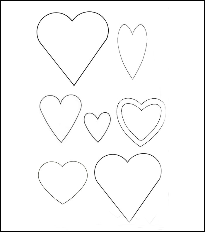 Small Heart Template to Print 25 Heart Template Printable Heart Templates Free