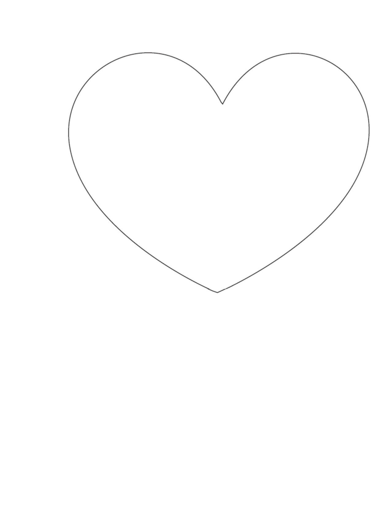 post heart outline printable template 273894