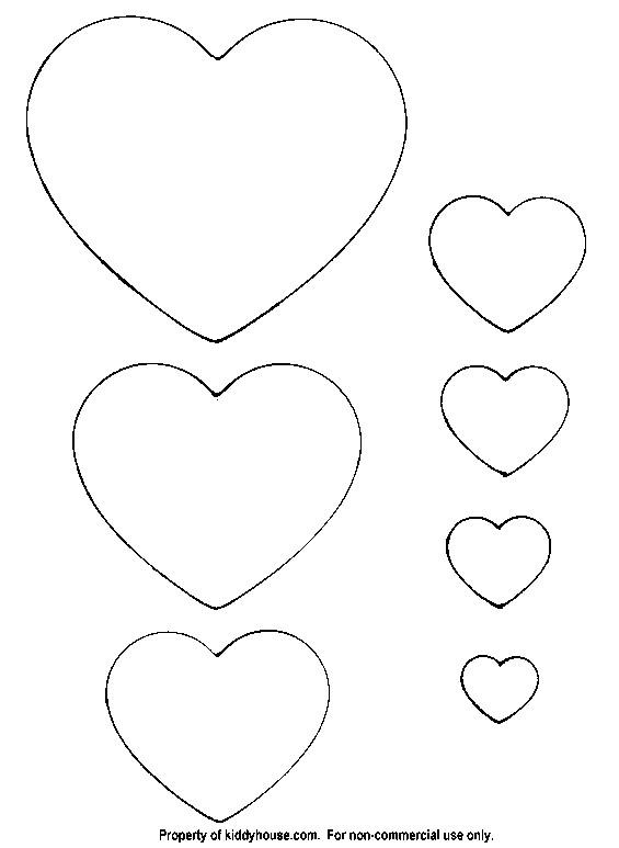 Small Heart Template to Print My Craft Notebook Kalp Sablonlari Heart Template