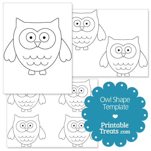 printable owl shape template