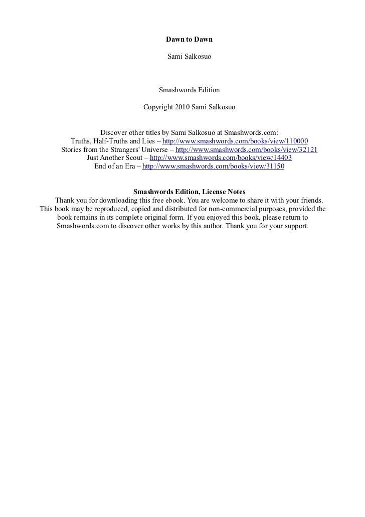smashwords free booktemplate