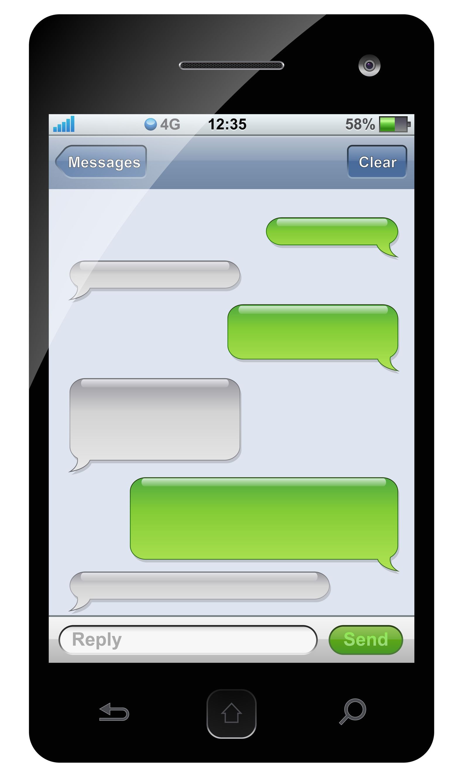 green iphone clipart