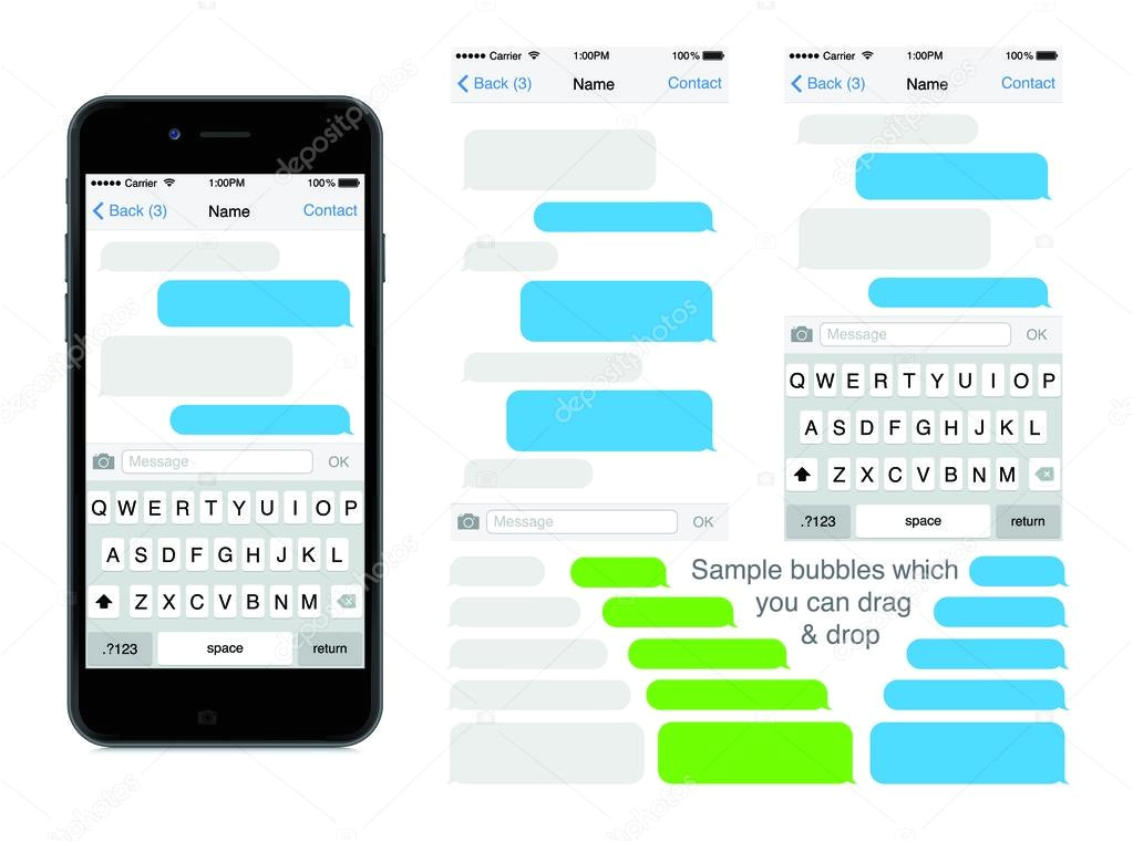 sms template iphone