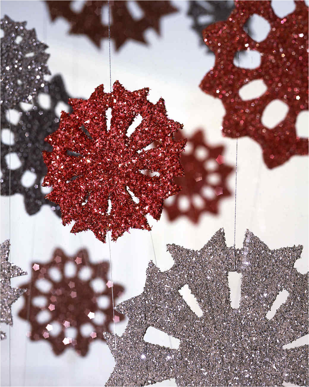 snowflake ornaments white christmas