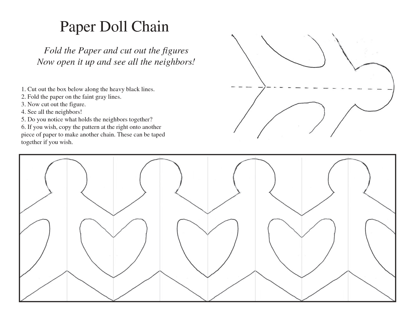 5 best images of printable paper chain people template paper doll chain template girl paper 8d8c2517fbd1ec25