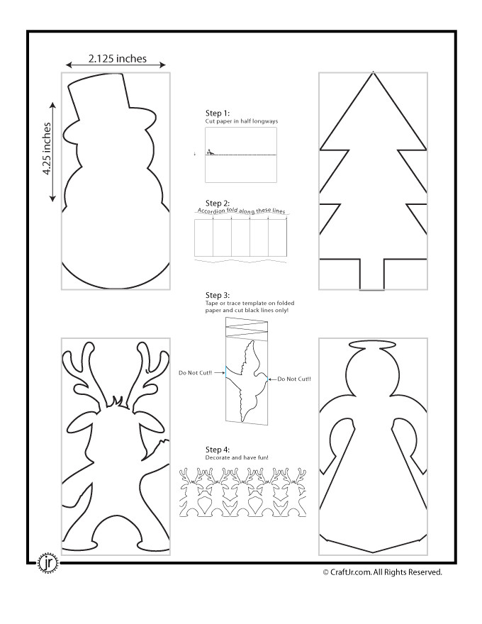 Snowman Paper Chain Template Christmas Paper Chain Crafts