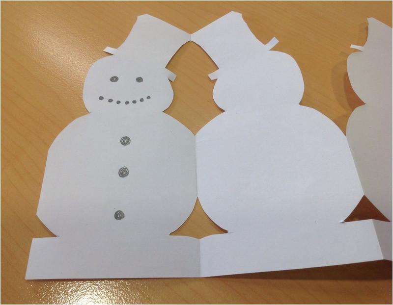 paper chain snowmen im86728