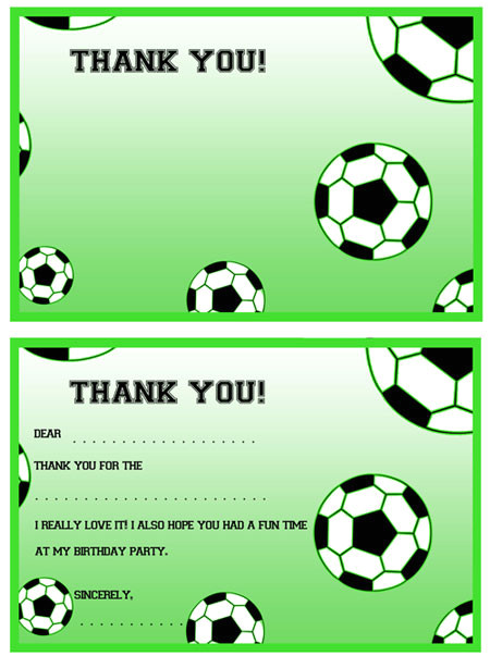 printable soccer thank notes