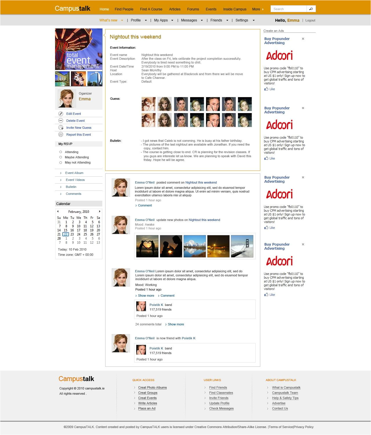 download template for social networking free software
