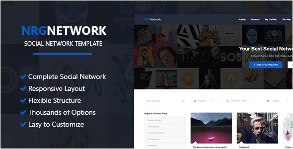 Social Networking Sites Templates PHP Nrgnetwork Responsive social Network Template by
