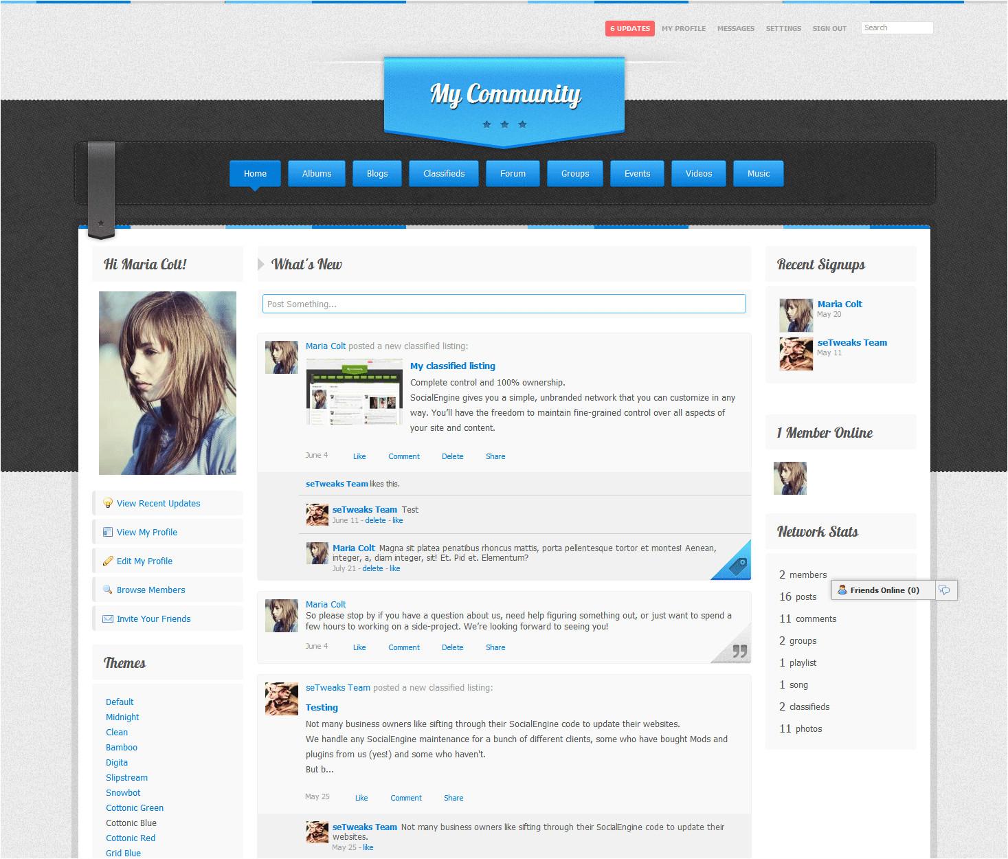 social engine templates