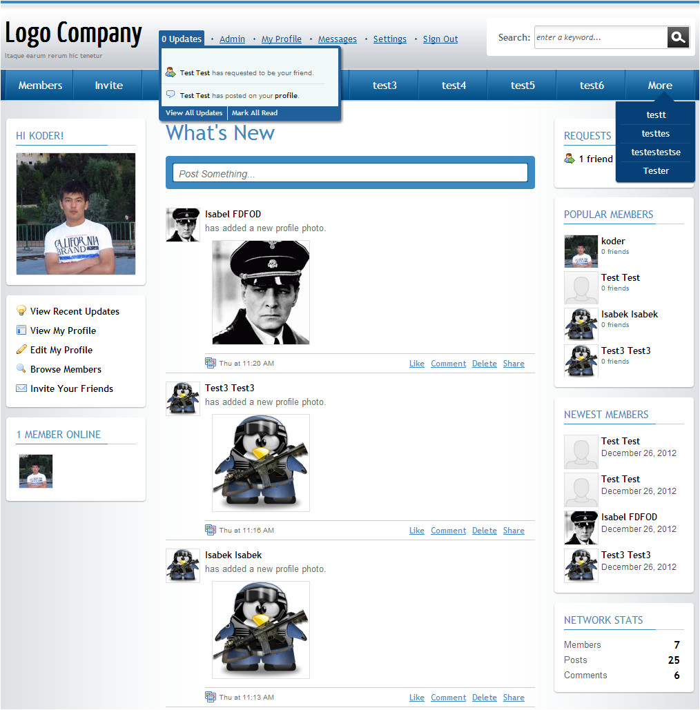 Socialengine Templates Business Template 4 2 9 Template for socialengine