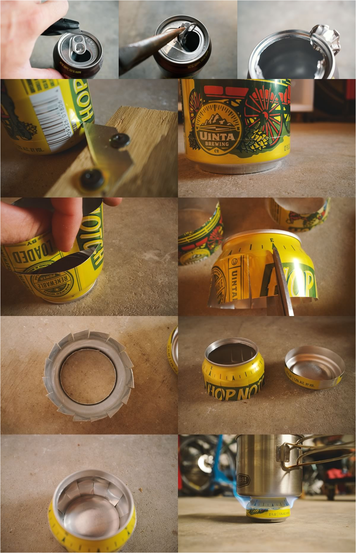 Soda Can Stove Template Hop Can Stoves How to Make 5 Ultralight Bikepacking