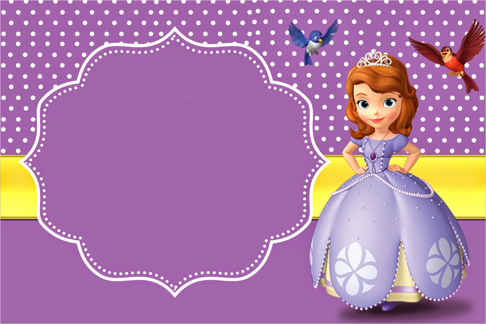 Sofia the First Free Invitation Templates 8 Best Images Of Free Printable Princess sofia Invitations