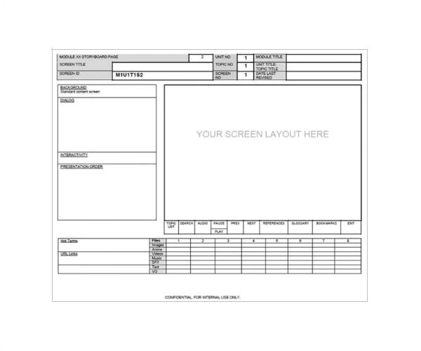 Software Storyboard Template 33 Free Storyboard Samples Pdf Doc Sample Templates