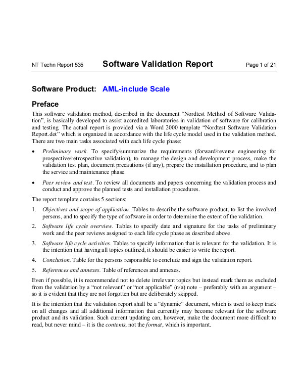Software Validation Protocol Template Validation Protocol Template Driverlayer Search Engine