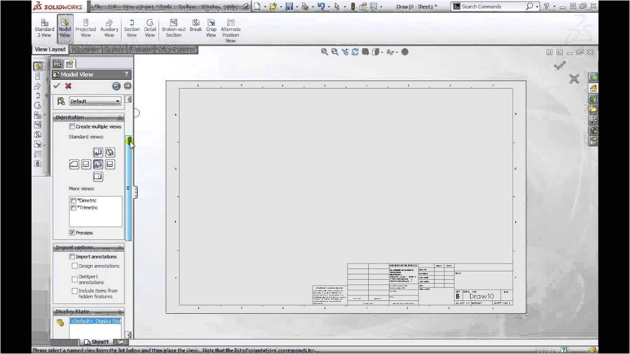 Solidworks Drawing Template Tutorial solidworks 2013 Fundamentals How to Create Drawings and