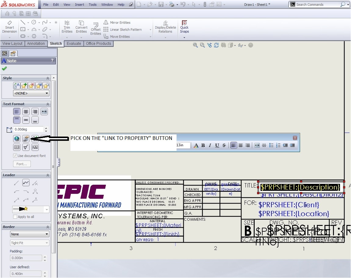 creating solidworks drawing template