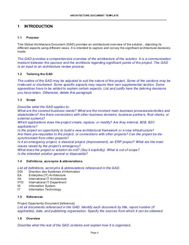 gad global architecture document template pm delpech