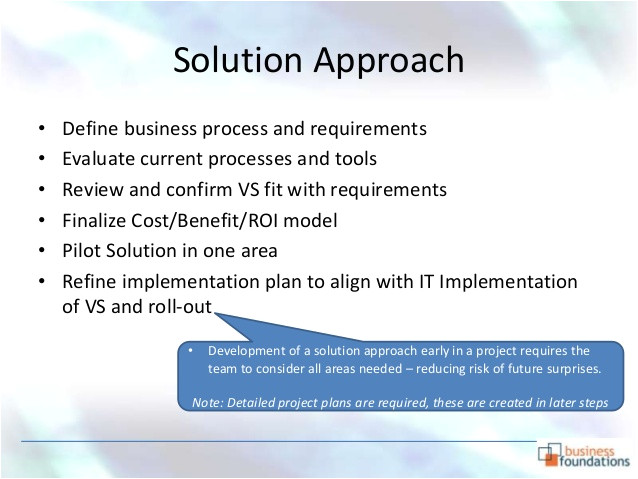 Solution Approach Document Template Project Initiation Document