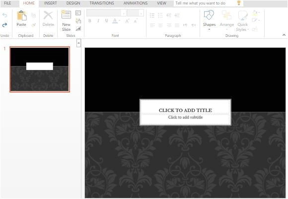 Sophisticated Powerpoint Templates Black Tie Powerpoint Template
