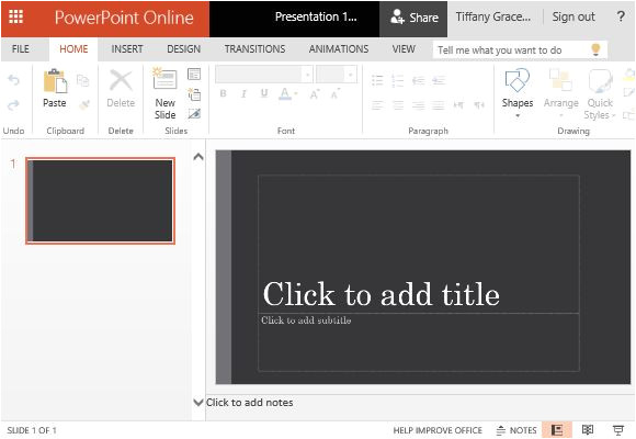 widescreen view powerpoint template